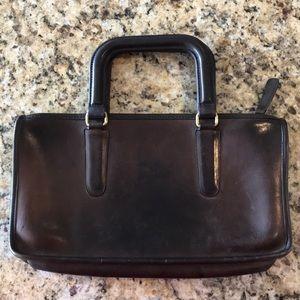 Coach Dark Brown Leather Briefcase/Bag